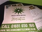 Twelve Green Bottles - Flyer Print and Design