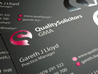 Quality Solicitors Business Cards - Design and Print